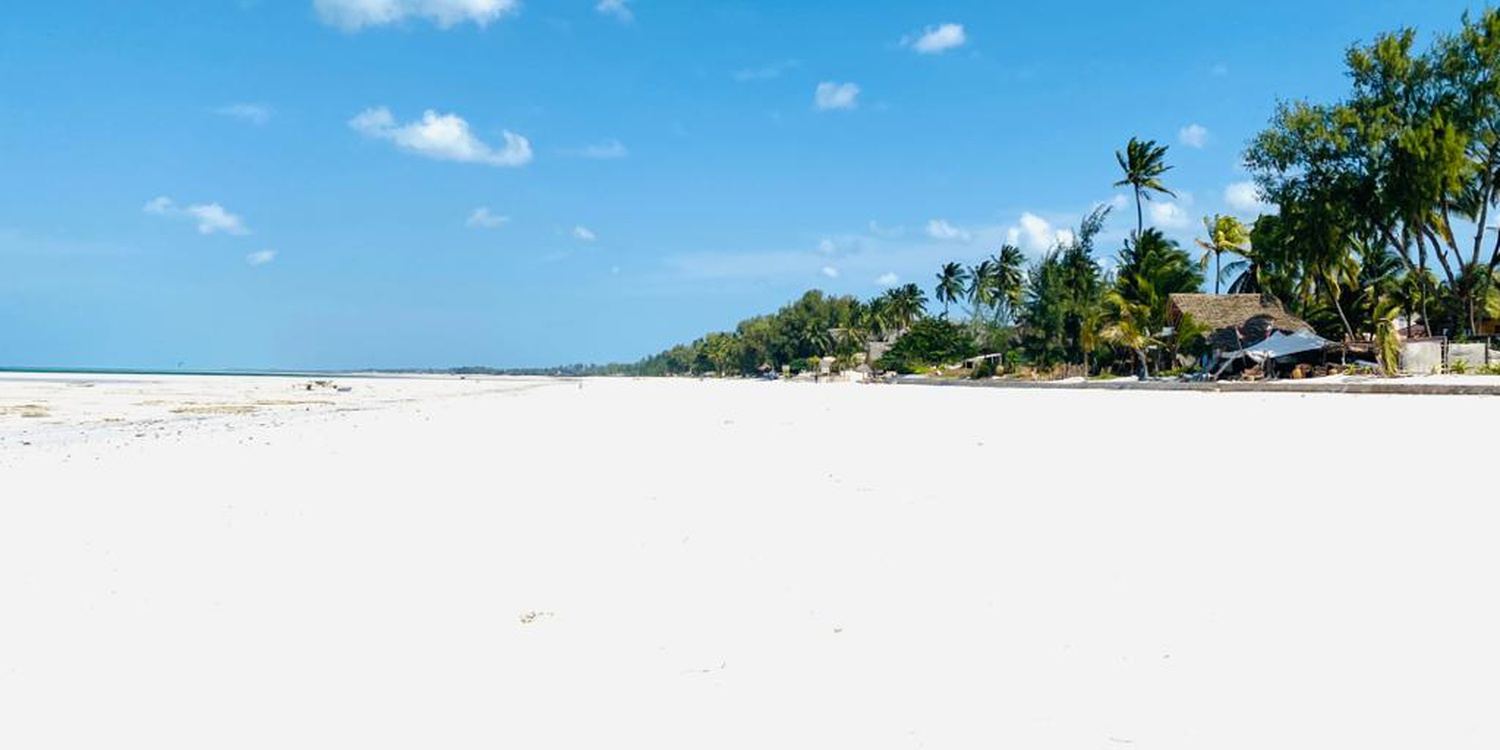 White sandy beach in Paje Zanzibar