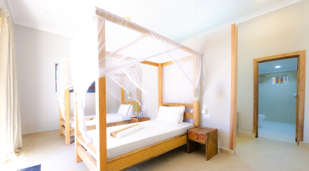deluxe twin room on Paje Beach